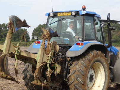 Mike ploughing yesterday.