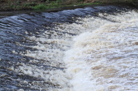 A weir on the Don, along the popular Blue Loop walk and cycle route